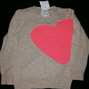 Toddler lightweight sweater with heart detail